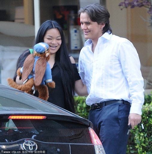 La Toya Jackson, Prince Jackson e sua namorada deixando restaurante 399c3d07ca64d6df695b40f924814ba8
